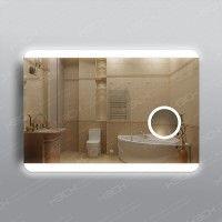 Зеркало 315скл2 с LED подсветкой 9,6 Вт 70 х 100 см с косметическим зеркалом с подсветкой 16х16 см с сенсорным выключателем