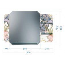 Зеркала стандартные 600 x 800мм с полноцветом и тремя полками