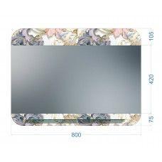 Зеркала стандартные 600 x 800мм с полноцветом и полкой