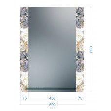 Зеркала стандартные 800 x 600мм с полкой