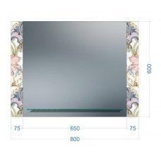 Зеркала стандартные 600 x 800мм с полкой