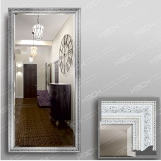 Зеркало 3562Ф в багетной раме 140х70 см универсальное с фацетом