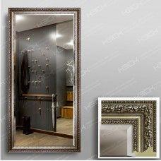 Зеркало 3569Ф в багетной раме 140х70 см универсальное с фацетом