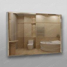 Зеркало 898 70 х 100 см с фацетом на алюминиевом профиле универсальное крепление