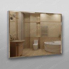 Зеркало 898 80 х 100 см с фацетом на алюминиевом профиле универсальное крепление