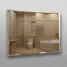 Зеркало 898 70 х 90 см с фацетом на алюминиевом профиле универсальное крепление