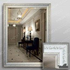 Зеркало 3561Ф в багетной раме 80х60 см универсальное с фацетом