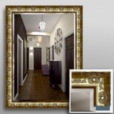 Зеркало 5041Ф в багетной раме 80х60 см универсальное с фацетом