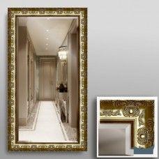 Зеркало 5041Ф в багетной раме 90х50 см с фацетом