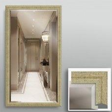 Зеркало 8580Ф в багетной раме 90х50 см с фацетом