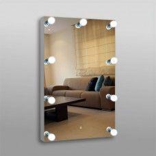 Зеркало 806ск гримерное 100 х 70 с сенсорным выключателем 9 патронов (без лампочек)