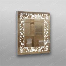 Зеркало 424 с LED подсветкой 9,6 Вт/м 70 х 60 см с кнопочным выключателем
