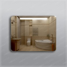 Зеркало 313 с LED подсветкой 9,6 Вт/м 70 х 90 см с кнопочным выключателем