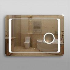 Зеркало 311скл2 с LED подсветкой 4,8 Вт/м 70 х 100 см с сенсорным выключателем и косметическим зеркалом с подсветкой 16х16 см