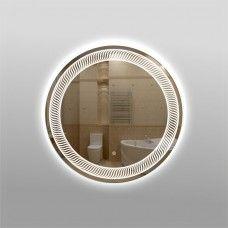Зеркало 325zск с LED подсветкой 9,6 Вт/м круглое 60 см с сенсорным выключателем с закрытой тыльной стороной