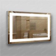 Зеркало 383 с LED подсветкой 9,6 Вт/м 60 х 90 см с кнопочным выключателем