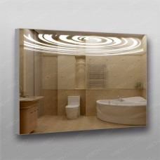 Зеркало 358 с LED подсветкой 9,6 Вт/м 70 х 100 см с кнопочным выключателем