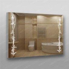 Зеркало 360 с LED подсветкой 9,6 Вт/м 70 х 100 см с кнопочным выключателем