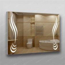 Зеркало 372 с LED подсветкой 9,6 Вт/м 70 х 100 см с кнопочным выключателем