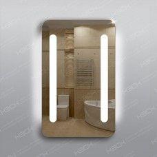 Зеркало 310 с LED подсветкой 9,6 Вт/м 80 х 50 см с кнопочным выключателем