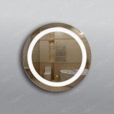 Зеркало 332ск с LED подсветкой 9,6 Вт/м круглое 60 см с сенсорным выключателем
