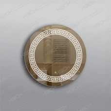 Зеркало 335ск с LED подсветкой 9,6 Вт/м круглое 60 см с сенсорным выключателем
