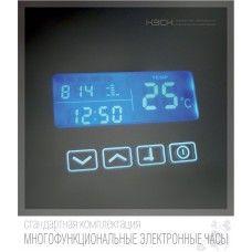 Часы встроенные в зеркало с сенсорным выключателем (макс. 42 Вт.) и датчиком температуры 60х90 мм (ч2)