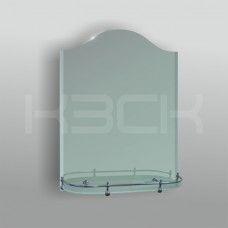 Зеркало 46101 75х55 см с фацетом + полка 52 см латунным бортиком