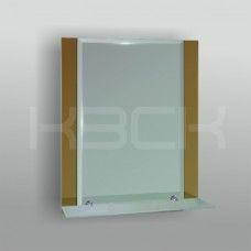 Зеркало 46825а 67х52 см фацет с бронзовыми вставками + полка 50 см