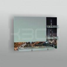 Зеркало 46783 60х80 см с полноцветом Дубай + полка 60 см с бортом+ две полки 20 см с бортом