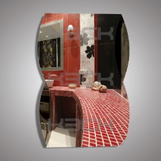 Зеркало  45216гр  67,5х48 см вставки графит