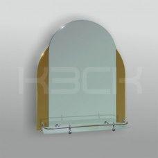 Зеркало 46205в 65х52 см с бронзовыми вставками + полка 50 см пластиковым бортиком