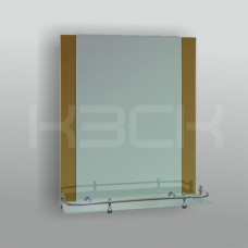 Зеркало 46225в 67х52 см с бронзовыми вставками + полка 50 см пластиковым бортиком