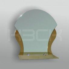 Зеркало 46235а 52х44 см с бронзовыми вставками + полка 40 см тонированное стекло