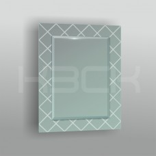 Зеркало  45410 80х60 см фацет + декор зеркало серебро