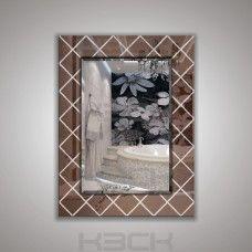 Зеркало  45410бр 80х60 см фацет + декор зеркало бронза