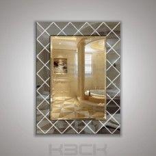 Зеркало  45410гр 80х60 см фацет + декор зеркало графит