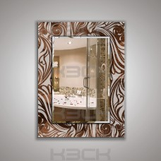 Зеркало  45411бр 80х60 см фацет + декор зеркало бронза