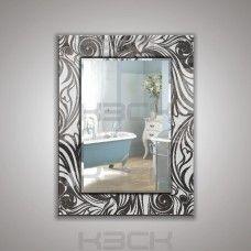 Зеркало  45411гр 80х60 см фацет + декор зеркало графит