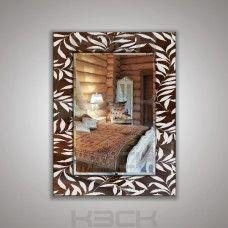 Зеркало  45412бр 80х60 см фацет + декор зеркало бронза