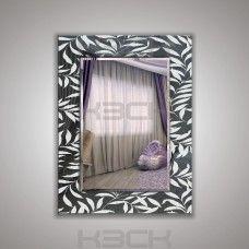Зеркало  45412гр 80х60 см фацет + декор зеркало графит
