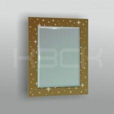 Зеркало  45425бр 80х60 см фацет + декор зеркало бронза