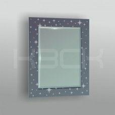 Зеркало  45425гр 80х60 см фацет + декор зеркало графит