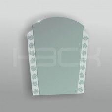 Зеркало 45156 67х51 см с матовыми вставками (листья)