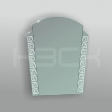 Зеркало 45157 67х51 см с матовыми вставками