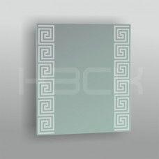 Зеркало 45168 53,5 х 46,5 см с матовым рисунком