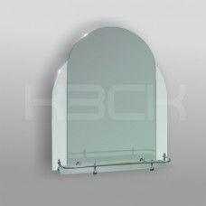 Зеркало 46103в 65х52 см с матовыми вставками + полка 50 см пластиковым бортиком