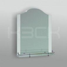 Зеркало 46110в 75х55 см с матированное + полка 50 см пластиковым бортиком