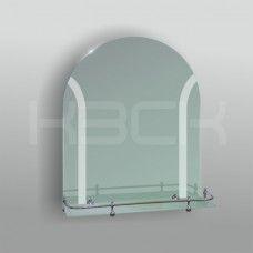 Зеркало 46124в 65х53,5 см матированное + полка 50 см пластиковым бортиком