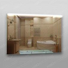 Зеркало 215в с LED подсветкой 9,6 Вт/м  70 x 100 см с кнопочным выключателем + полка 60 см с бортиком